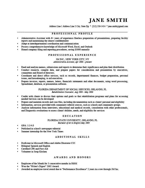 Microsoft Word Memo Format Resume Template Murray Black  Resumes  Pinterest  Resume Format .