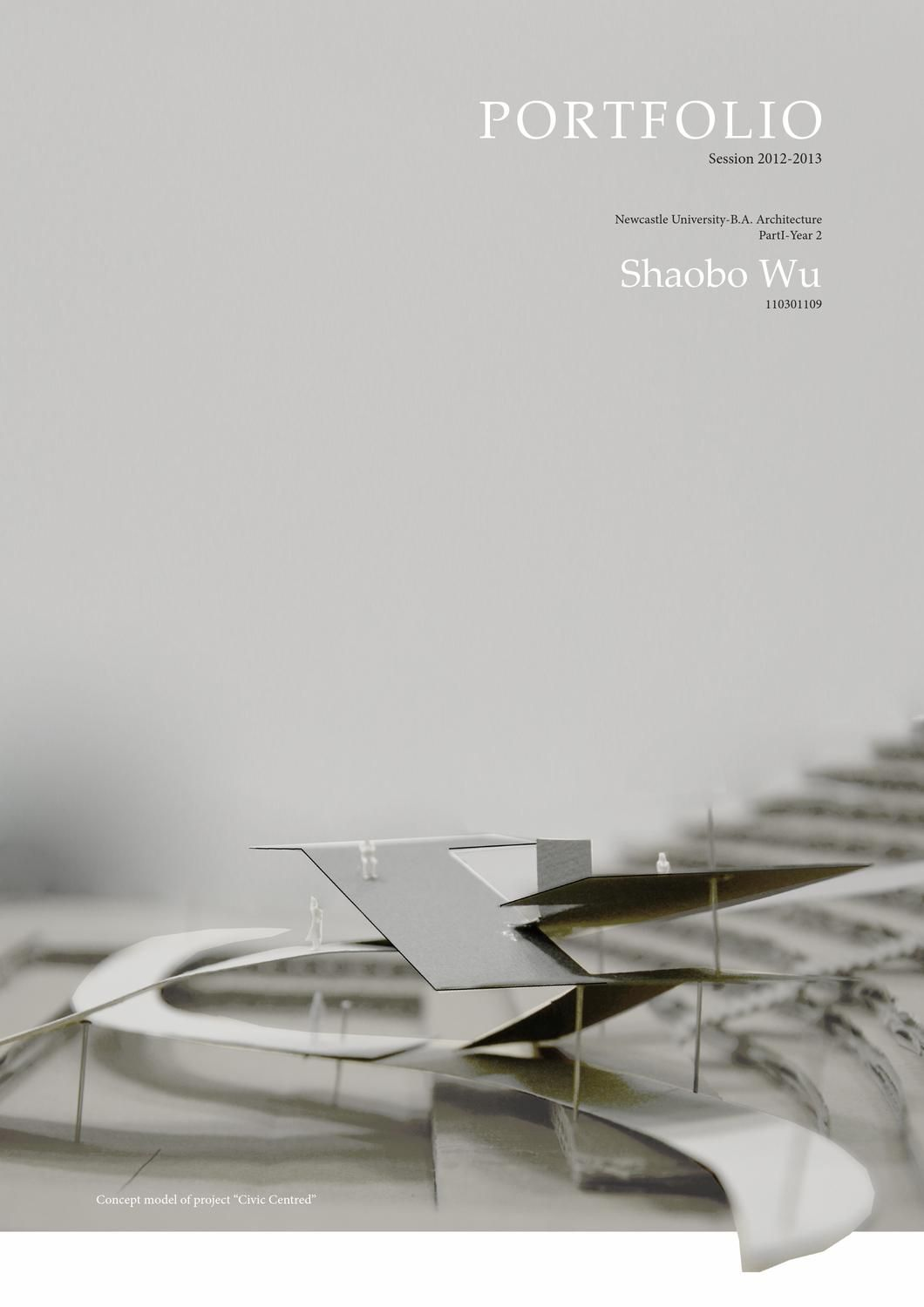 shaobo wu  architecture portfolio session 2012