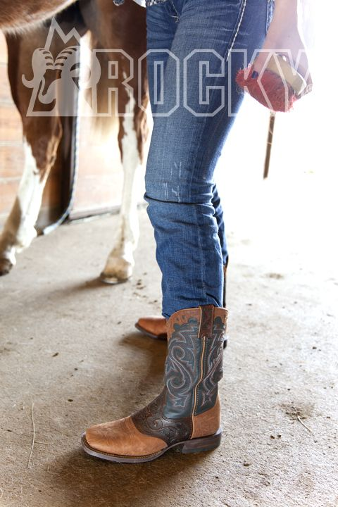 Rocky Handhewn Cowgirl Boots They Look Gay With The