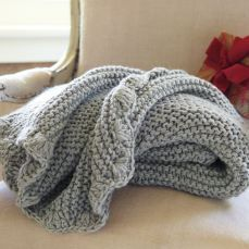 scallop knit throw pottery barn