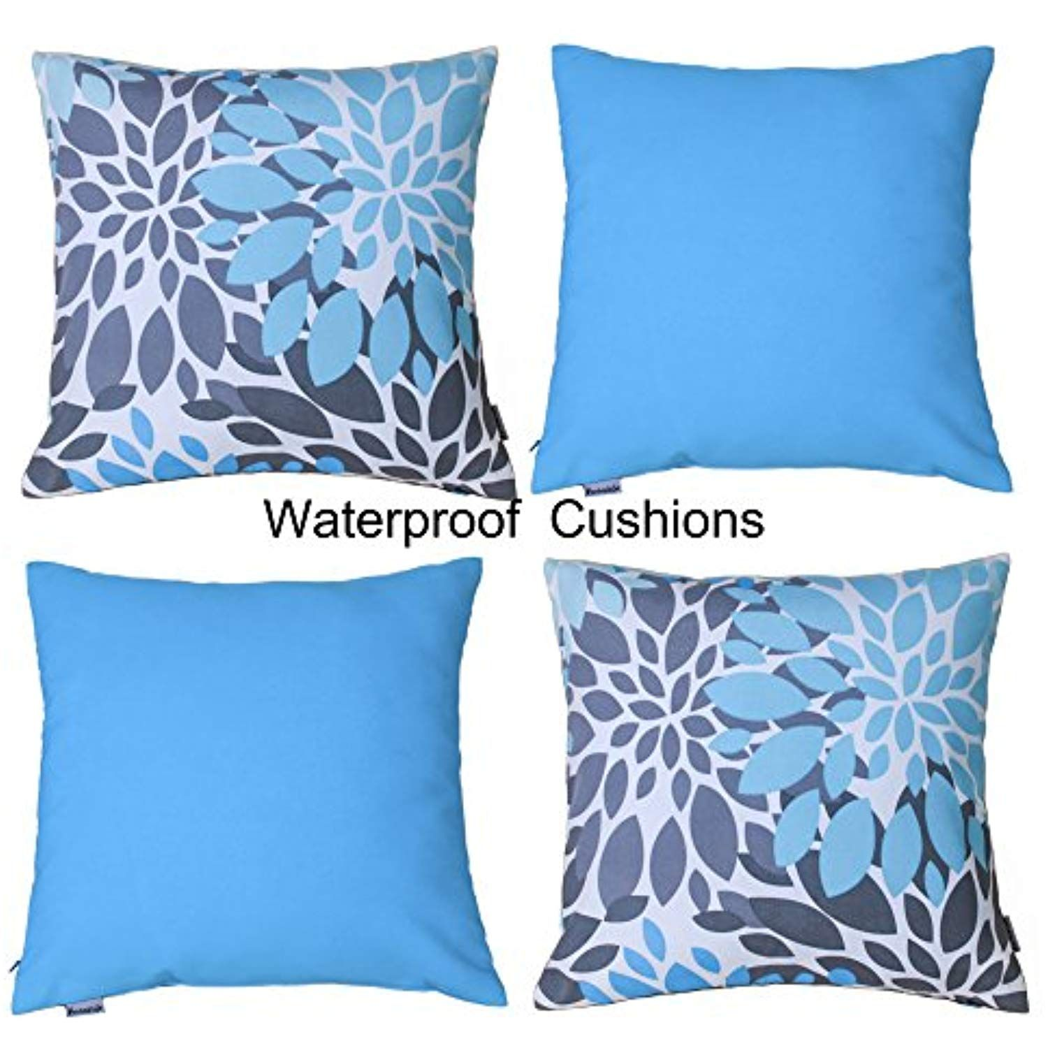 Vantextile Throw Pillow Covers Case Outdoor Water Resistant Outside Waterproof Cushion Decorative 18x18 I Waterproof Cushions Throw Pillows Throw Pillow Covers