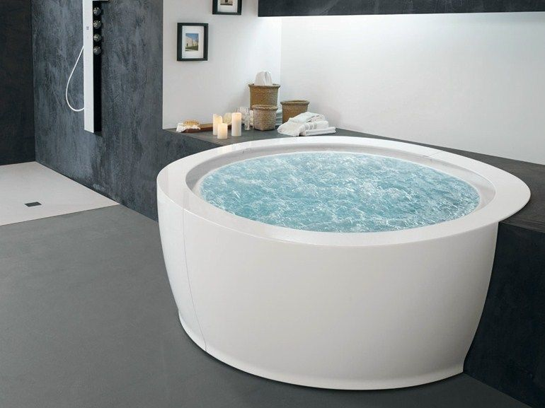 Vasca Da Bagno Whirlpool : Whirlpool round bathtub bolla sfioro 190 bolla collection by hafro