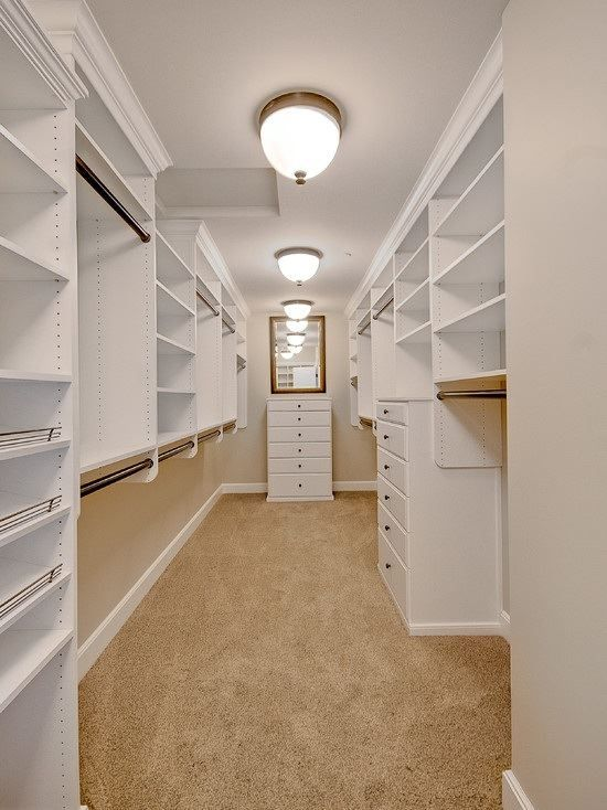 Nice, roomy walk in closet.