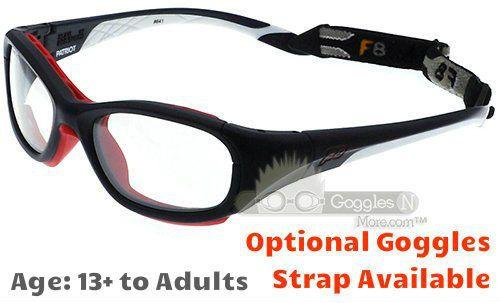4cb2c9f234f Rec Specs F8 Slam Patriot XL Prescription Sports Glasses Matte Navy White  55 Eye Size