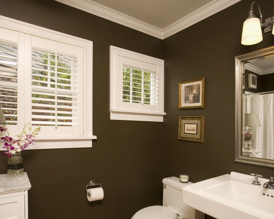 Brown Bathroom Home Is Where The Heart Is Pinterest Brown - Dark colored bathrooms