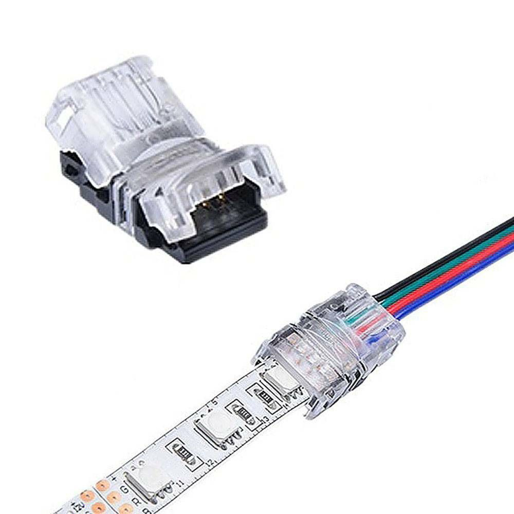 5pcs Bag 5050 Led Strip Connector 4 Pin For Waterproof Tape Light Snap Splicer A Unbranded Tape Lights Waterproof Tape Rgb Led Strip Lights
