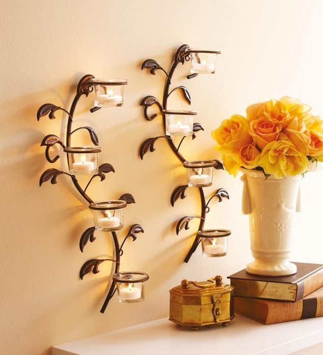 Chic Wrought Iron Wall Candle Holders You Will Admire | mobiliario ...