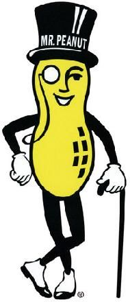 mr peanut logo for planter s peanuts created in 1916 oh the