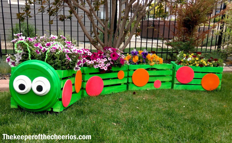 Planter Dans Une Caisse En Bois caterpillar crate planter | 3petits cochons | caisse bois