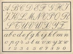 Vintage cursive alphabet~Unfortunately, Children do Not Learn this ...