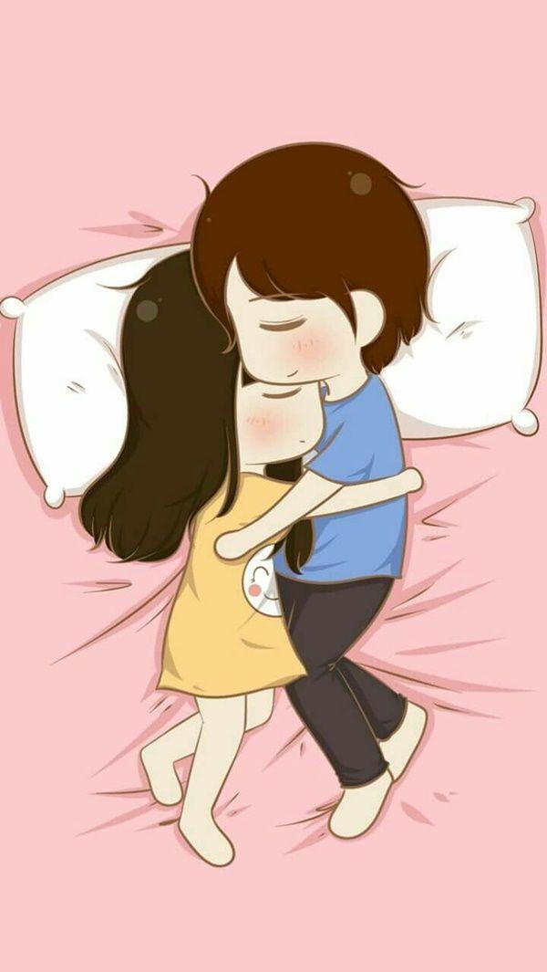 60 Cute Cartoon Couple Love Images Hd  Couple  Anime -4160