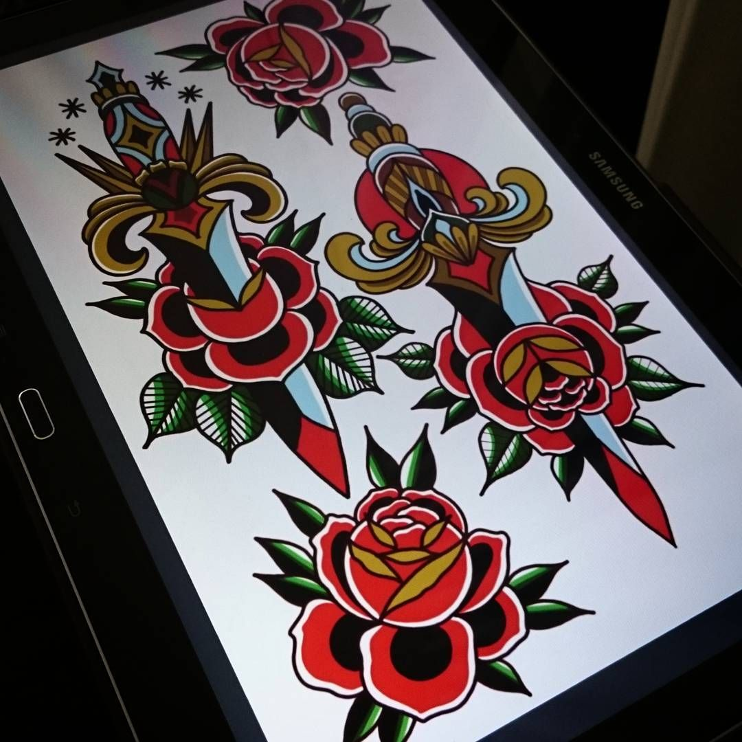 Consulta Esta Foto De Instagram De Richwellstattoos 336 Me Gusta American Traditional Rose Traditional Tattoo Design Traditional Tattoo