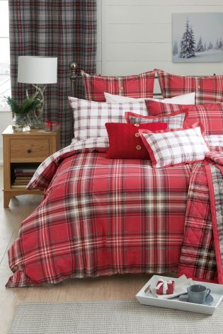 Buy 2 Pack Red Check Bed Set From The Next Uk Online Shop Bedding Sets Luxury Bedding Sets Red Bedding Sets