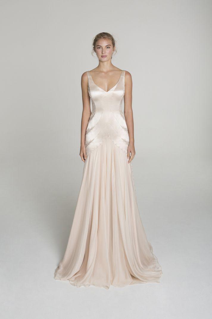 Modern Sophistication from Alana Aoun | Blush wedding dresses, Blush ...