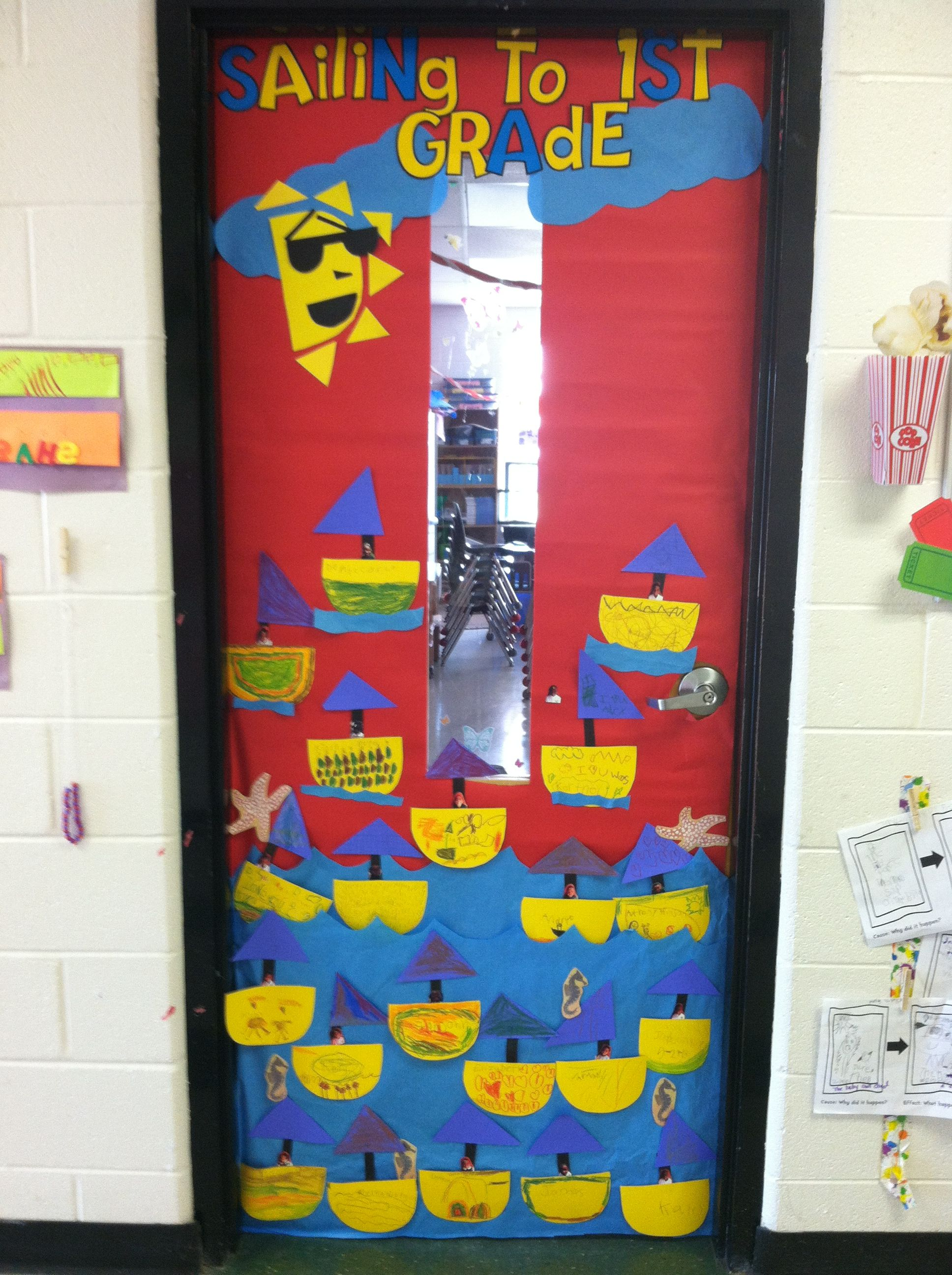June Classroom Ideas : My june kindergarten classroom door sailing to first