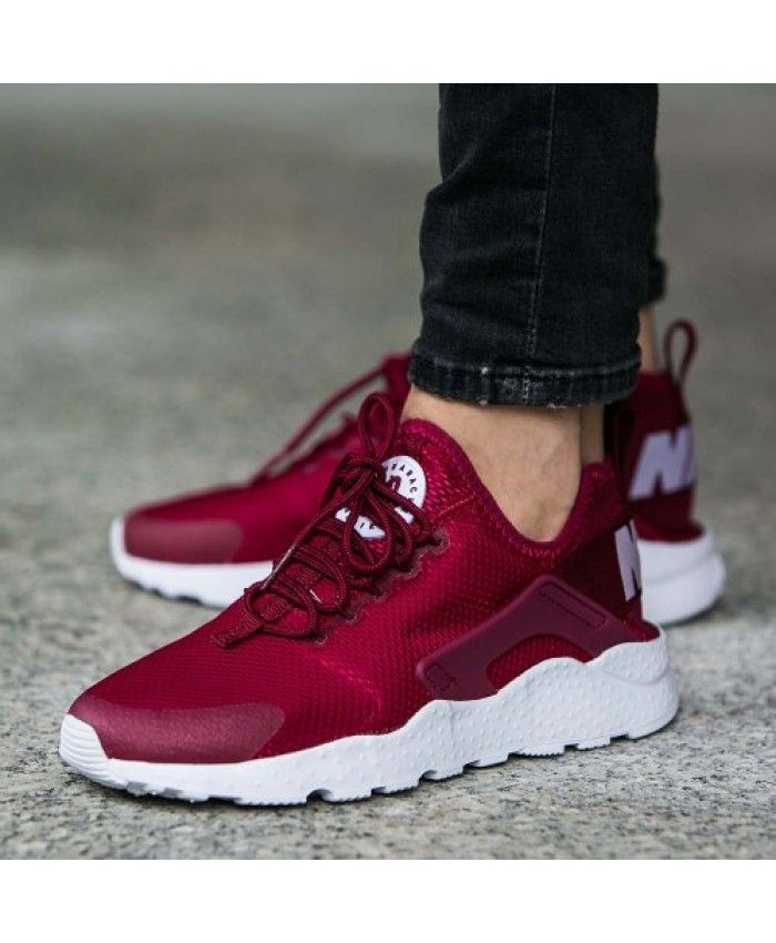 save off 052aa 07aa5 Nike Air Huarache Run Ultra Red Burgundy Trainer Discounted price, very  type, wear is also very comfortable.