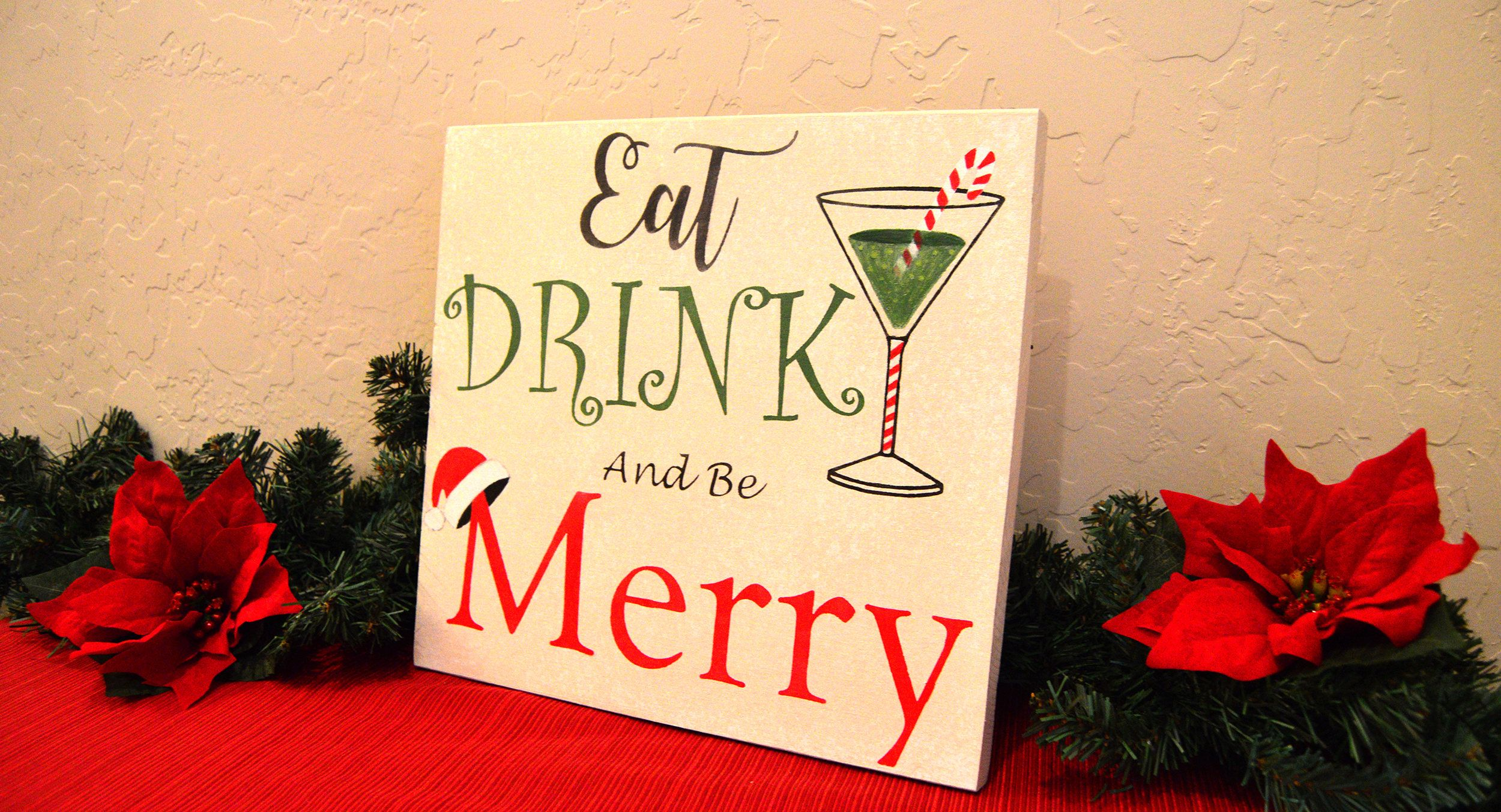 Eat drink and be Merry wood sign - Christmas Decor - Seasonal wall ...
