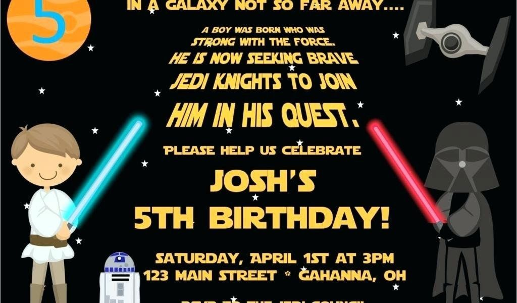 Star Wars Birthday Invite Template Awesome Free Printable Star Wars B Star Wars Birthday Free Birthday Invitation Templates Free Printable Birthday Invitations