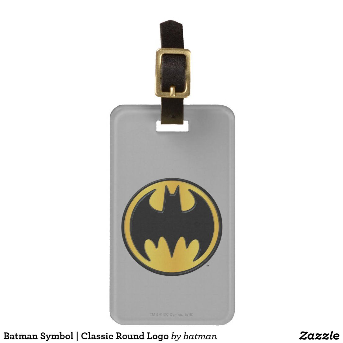 Batman symbol classic round logo luggage tag zazzle