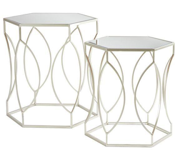 Buy Premier Housewares Avantis Nest Of 2 Tables Brushed Silver