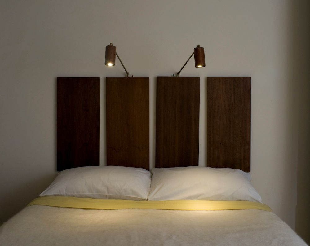 Mahogany LED Bedside Reading Light