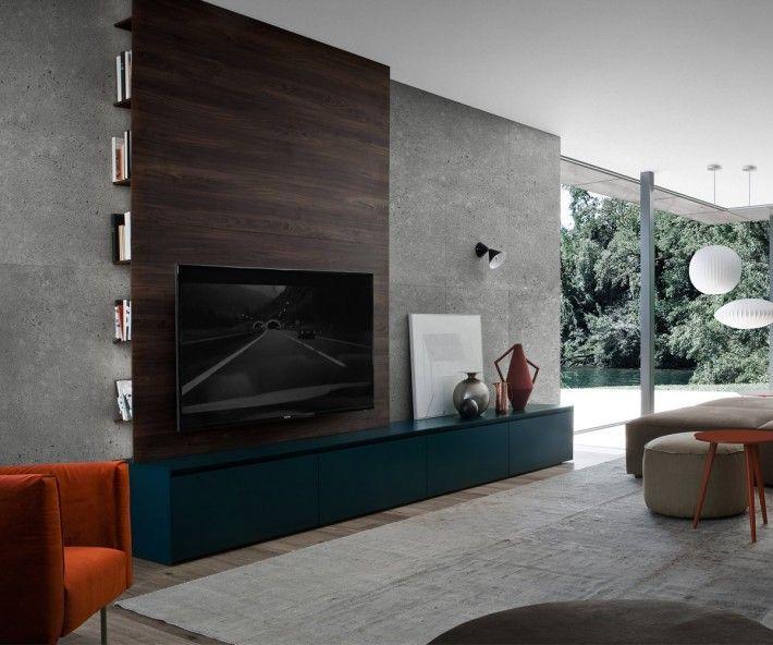 Novamobili Reverse TV Wandpanell H120xB180 Wohnzimmer - fernsehwand ideen moebel wohnzimmer