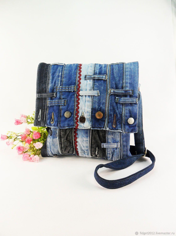 b632746d33e0 Женские сумки ручной работы. Ярмарка Мастеров - ручная работа. Купить Джинсовая  сумка. Handmade. Синий, бохо-стиль, рециклинг