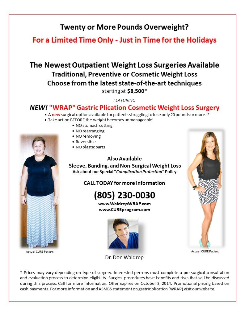 Outpatient Cosmetic Weight Loss Surgery Nutriton Eating Right For
