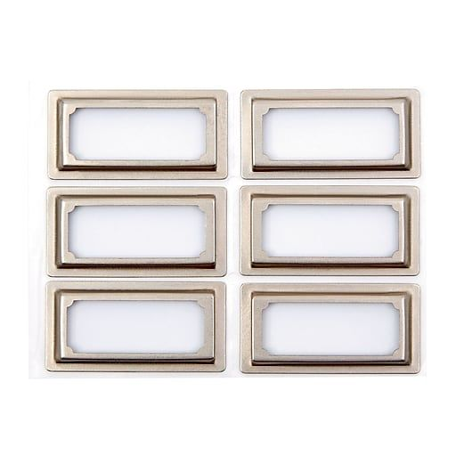 Pantry Labels Martha Stewart: Martha Stewart Binder Bookplates, 6-pack, Silver (51121