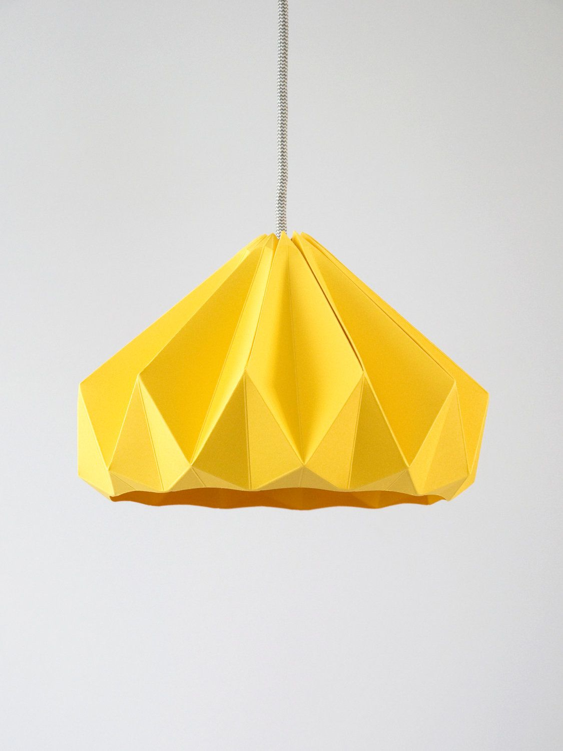 Chestnut origami hanging paper lamp shade pendant light Gold