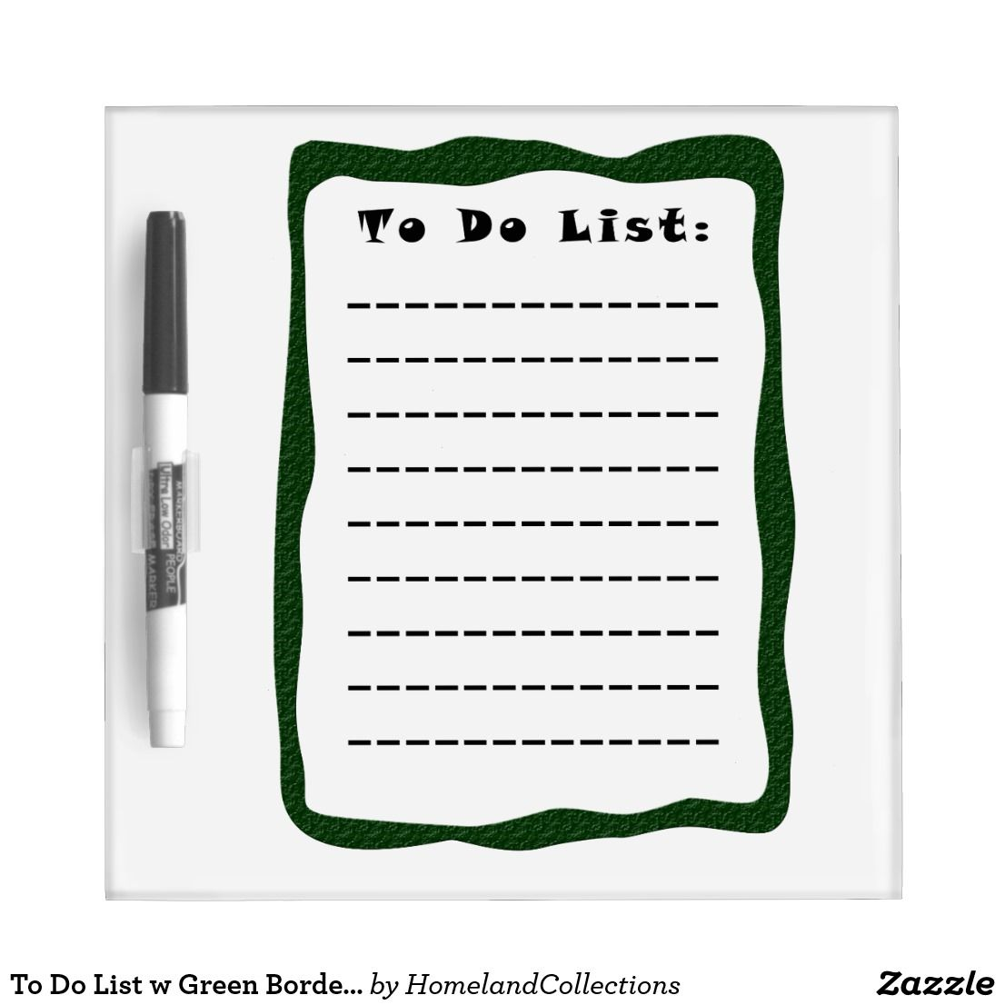 Daily List Things To Do Pen Dry Erase Board