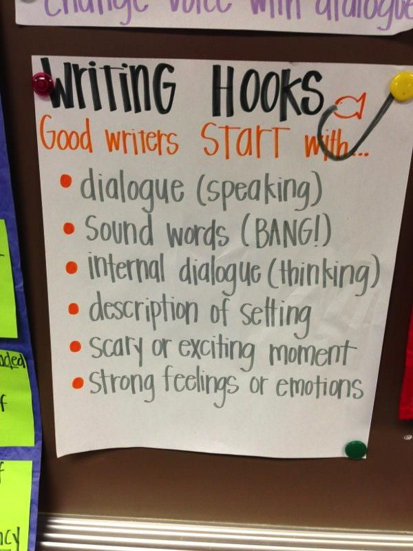 0011 Writing Hooks Good writers start with… Writing