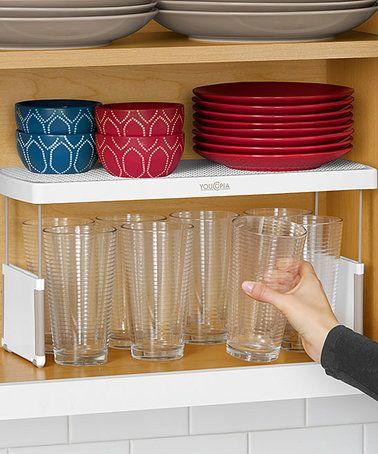 Another great find on #zulily! StoreMore Height Adjustable Kitchen Cabinet Shelf Organizer #zulilyfinds