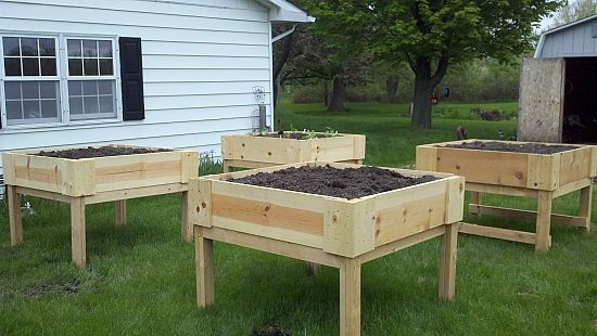 Above Ground Garden Box Plans | Above Ground Planters In Action!   Shade  Gardening