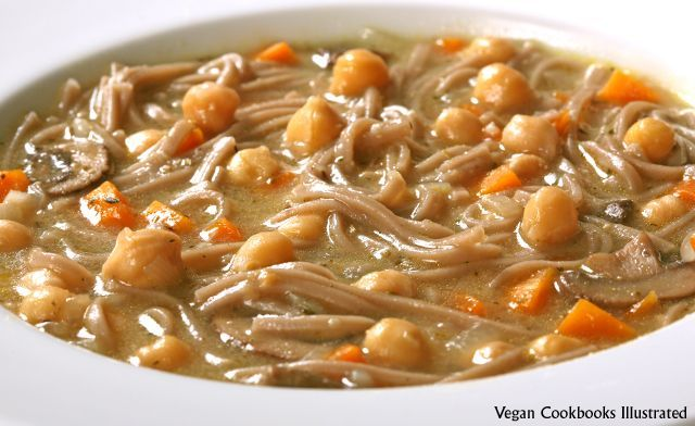 Chickpea Noodle Soup from the cookbook Veganomicon #chickpeanoodlesoup Chickpea Noodle Soup from the cookbook Veganomicon #chickpeanoodlesoup