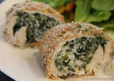 Stuffed Turkey Cutlets - The Anti Mom Blog. These are 21 Day Fix approved!