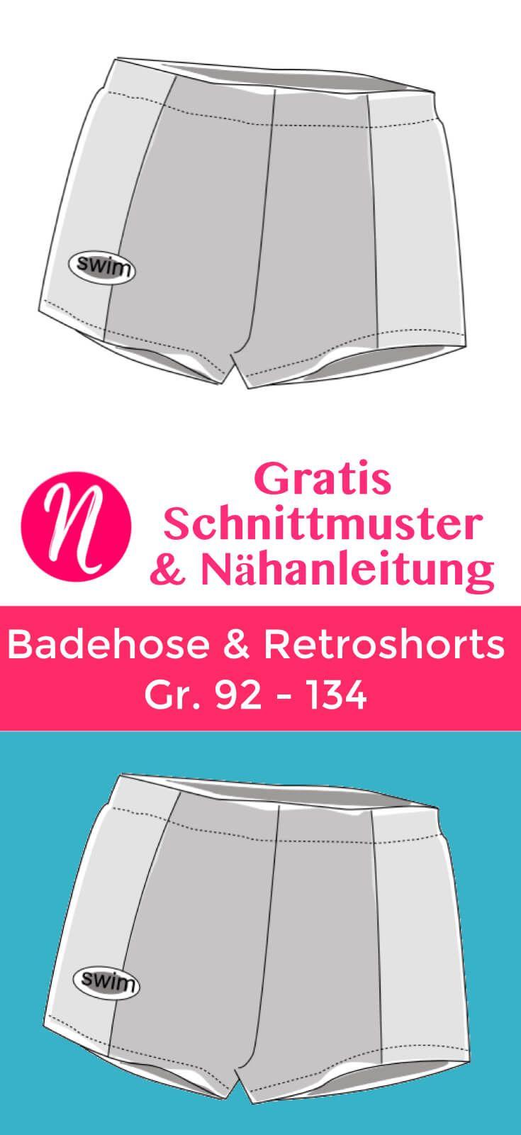 Badehose und Retroshorts für Jungs – Freebook | Patterns and Craft
