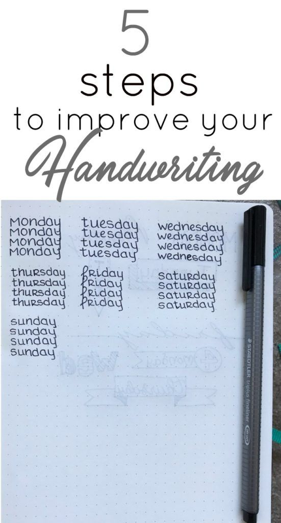 5 Steps to Improve Your Handwriting Handwriting, Bullet journals - copy write letter to my friend