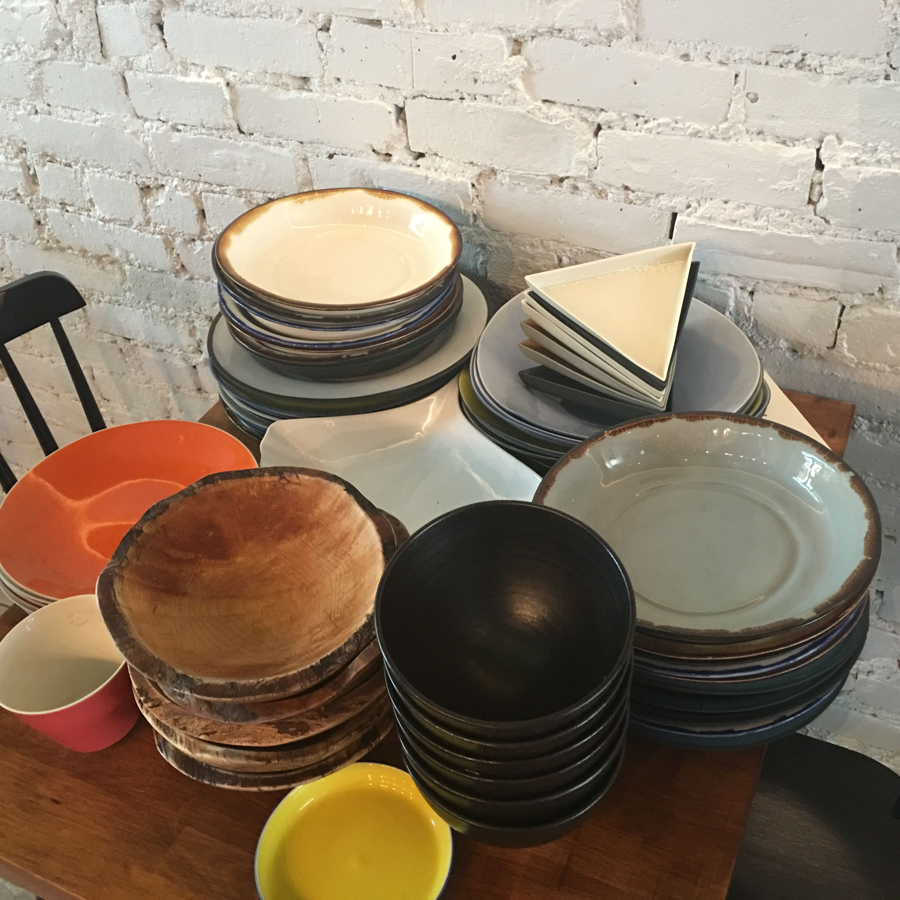 Olmsted like many other current top restaurants choose crafted dinnerware. Lots of wood for bowls & Olmsted like many other current top restaurants choose crafted ...