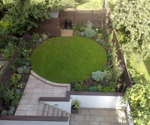 Photo Of Contemporary Split Level Paving Stones Circle Circular Robert  James Landscapes Garden With Steps And