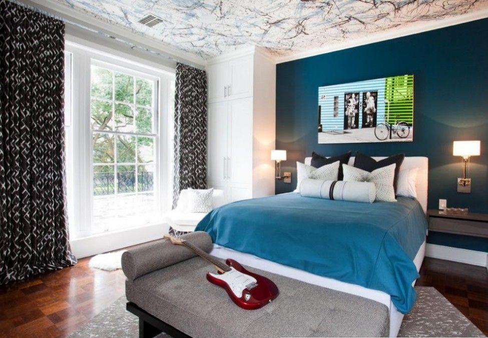 Awesome Blue Teenage Girl Room Design With Elegant Black ...