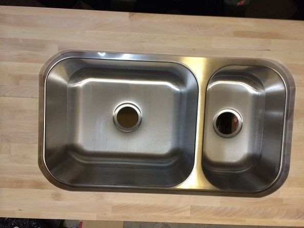 How To Cut A Sink Hole Into Butcher Block Instructions Pinterest
