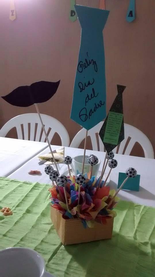 Centro de mesa para el d a del padre o cumplea os de for Ideas para centros de mesa