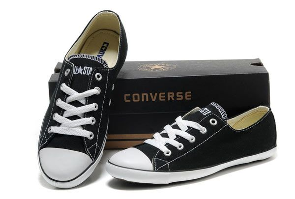 black converse for women