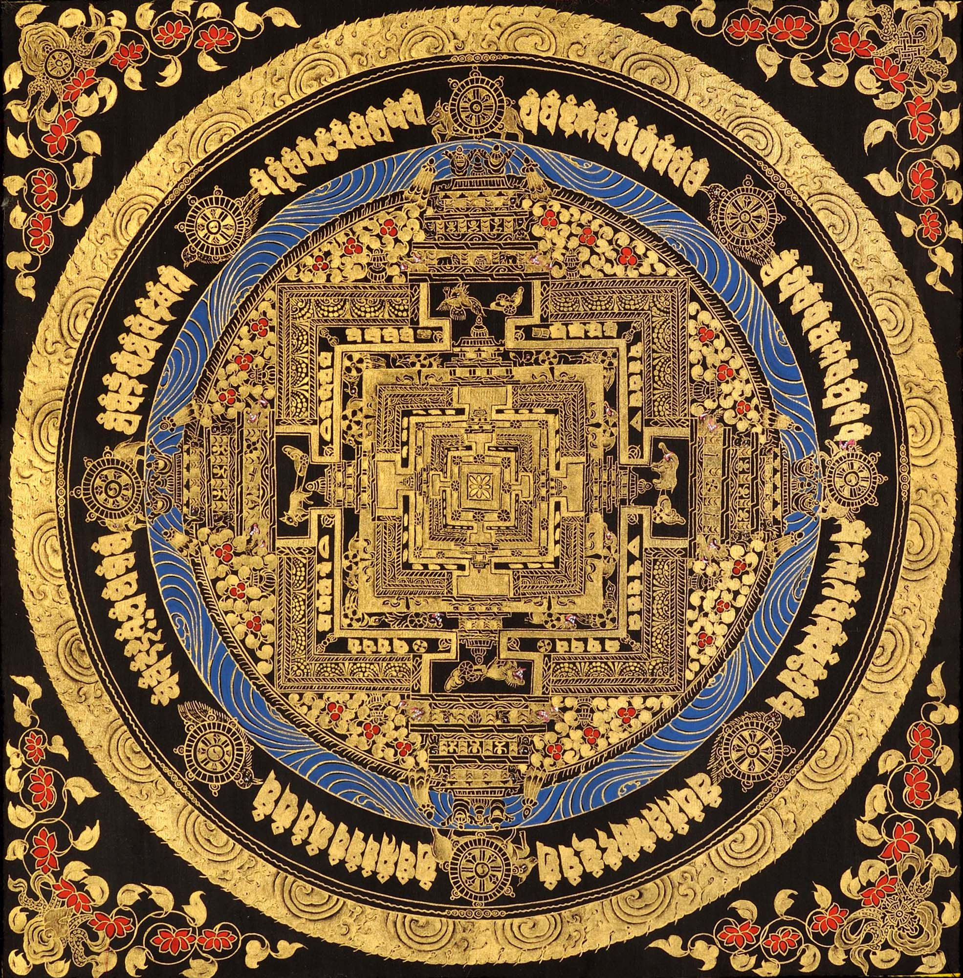 Hinducosmos Kalachakra Mandala Tibetan Thangka Painting Via Exotic India