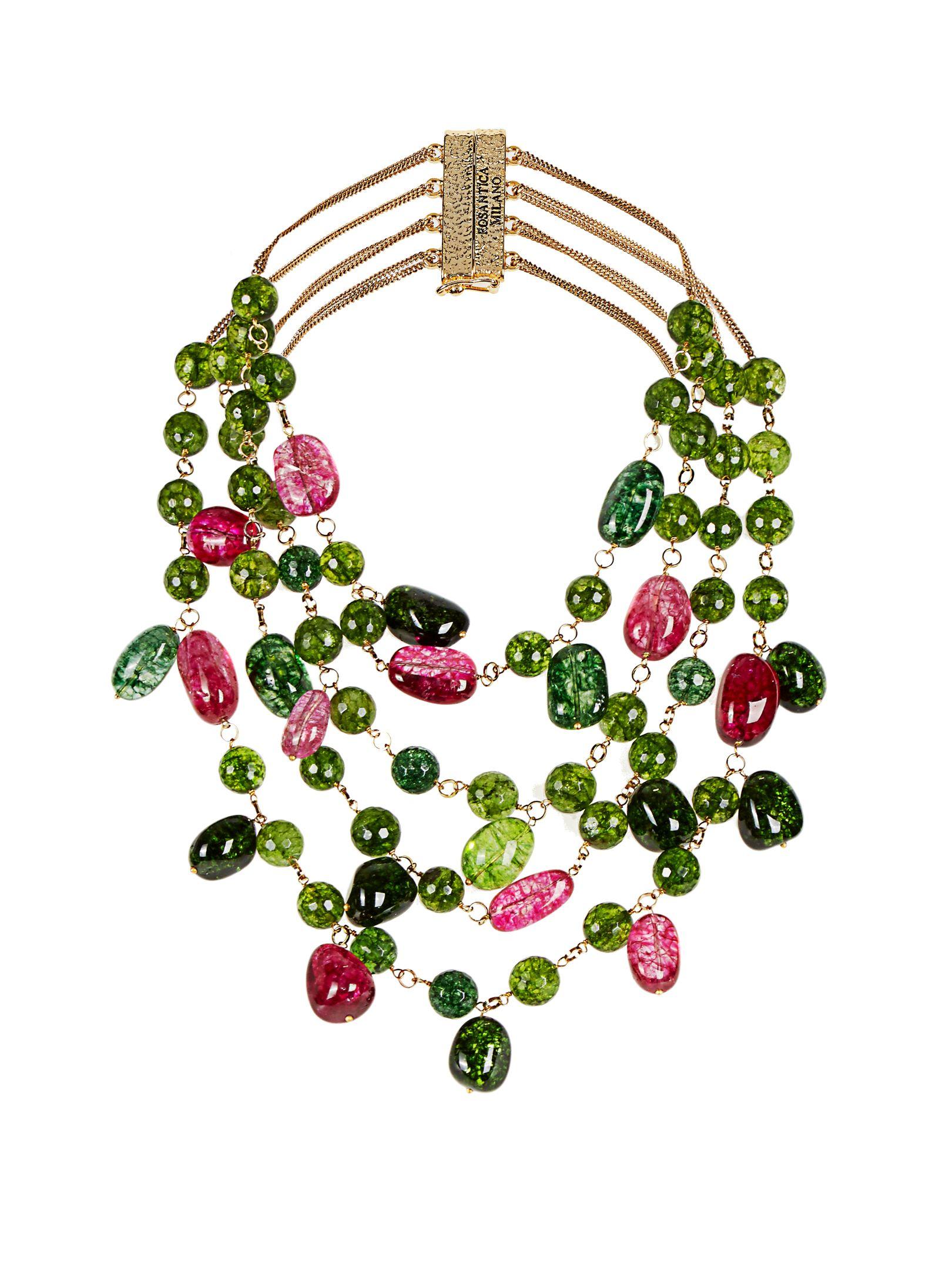 Kiwi tourmaline and agate necklace | Rosantica By Michela Panero | MATCHESFASHION.COM UK