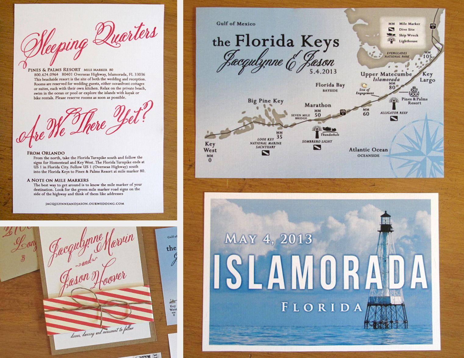 Florida Keys Wedding Invite Destination Wedding Custom Wedding
