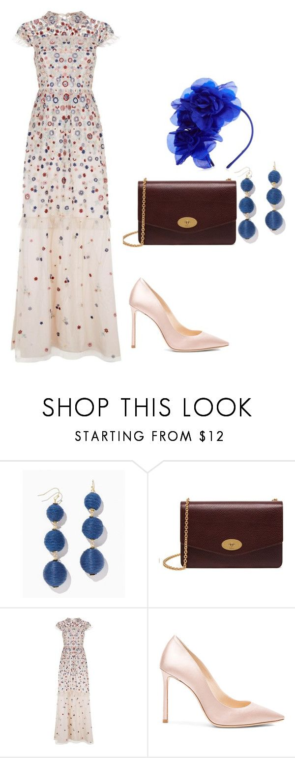 """""""Lucca"""" by saretasareta on Polyvore featuring Mulberry, Needle & Thread, Jimmy Choo and Benoît Missolin"""