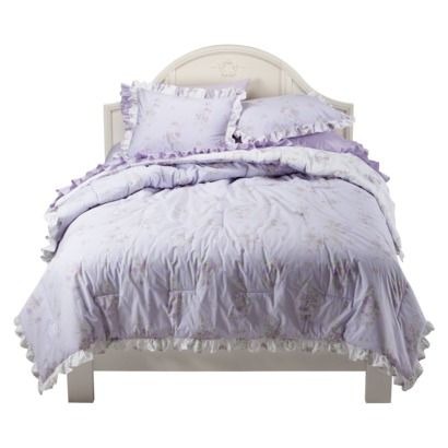 Shabby Chic Lilac Tiara Ruffle Comforter Set I Will Have This