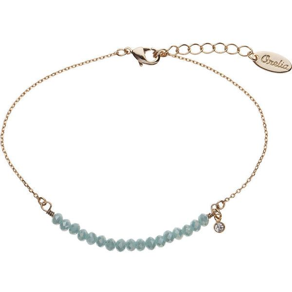TOPSHOP **Sparkle Bead and Chain Bracelet by Orelia (£12) ❤ liked on Polyvore featuring jewelry, bracelets, accessories, necklaces, blue, bead jewellery, blue bangles, beaded jewelry, beading jewelry and sparkle jewelry